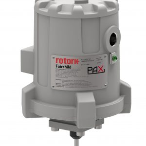 PAX1 Actuator  The PAX1 is ideal when precise position control is required, and it has an optional analog feedback that transmits current position to the operator. Adjustable motor speeds, customer set position limits and alarms are standard features.