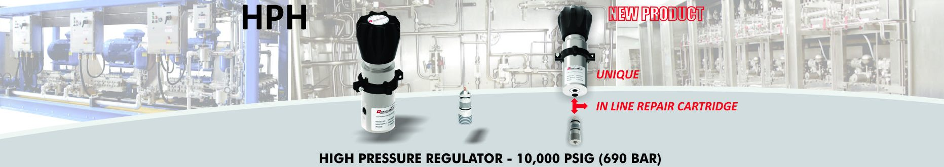 High Pressure Regulator (Hydraulic and Gases) - 10000 PSIG (690 Bar)